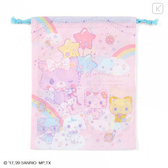 Japan Sanrio Drawstring Bag (M) - Mewkledreamy / Niji - 1