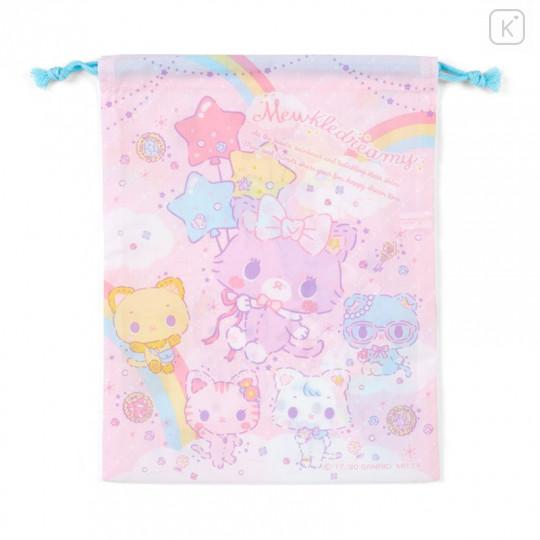 Japan Sanrio Drawstring Bag (M) - Mewkledreamy / Niji - 2