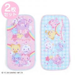 Japan Sanrio Half Petit Towel 2pcs Set - Mewkledreamy / Niji