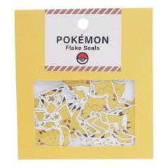 Japan Pokemon Flake Seals Sticker - Pikachu