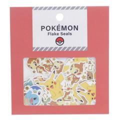 Japan Pokemon Flake Seals Sticker - Family