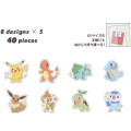 Japan Pokemon Flake Seals Sticker - Family - 2