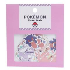 Japan Pokemon Flake Seals Sticker - Purple Pink