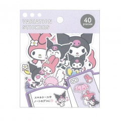 Japan Sanrio Variation Stickers - My Melody & Kuromi