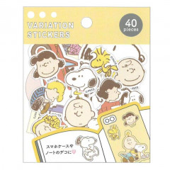 Japan Peanuts Variation Stickers - Snoopy & Friends
