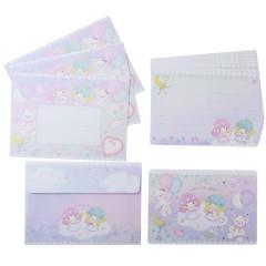 Japan Sanrio Mini Letter Set - Little Twin Stars / Takeimiki Fantasy