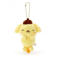 Japan Sanrio Keychain Plush - Pompompurin / Acupoint Push Mascot