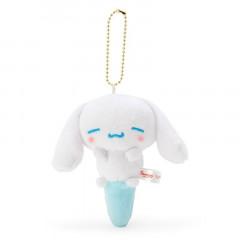 Japan Sanrio Keychain Plush - Cinnamoroll / Acupoint Push Mascot