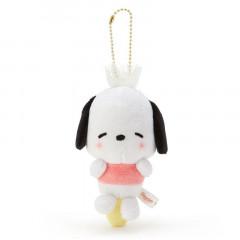 Japan Sanrio Keychain Plush - Pochacco / Acupoint Push Mascot
