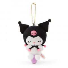 Japan Sanrio Keychain Plush - Kuromi / Acupoint Push Mascot