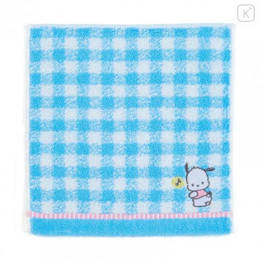 Japan Sanrio Petit Towel - Pochacco / Check - 1