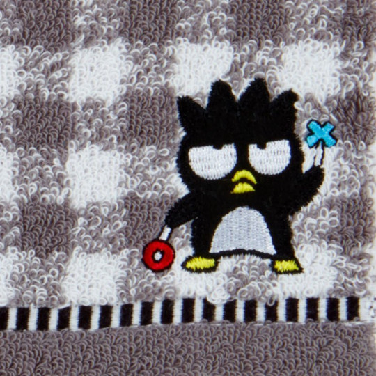 Japan Sanrio Petit Towel - Badtz-maru / Check - 2