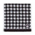 Japan Sanrio Petit Towel - Kuromi / Check - 1