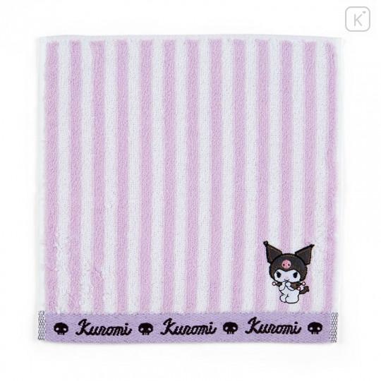 Japan Sanrio Petit Towel - Kuromi / Striped - 1