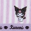 Japan Sanrio Petit Towel - Kuromi / Striped - 2