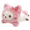 Japan San-X Hugging Plush - Korilakkuma / Strawberry Cat - 1