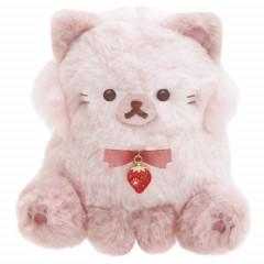 Japan San-X Plush - Strawberry Cat / Korilakkuma Strawberry Cat