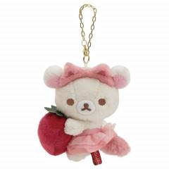 Japan San-X Keychain Plush - Korilakkuma / Strawberry Cat