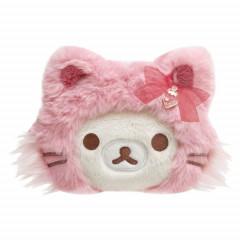 Japan San-X Plush Coin Case - Korilakkuma / Strawberry Cat