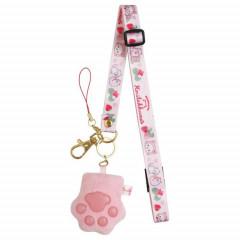 Japan San-X Neck Strap - Korilakkuma / Strawberry Cat