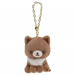 Japan San-X Keychain Plush - Cocoa Cat / Korilakkuma Strawberry Cat