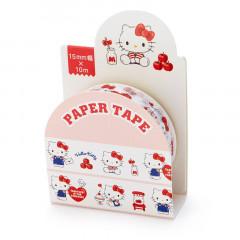 Japan Sanrio Washi Paper Masking Tape - Hello Kitty / White