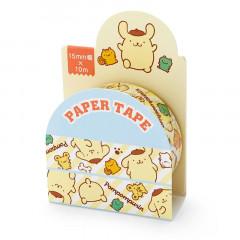 Japan Sanrio Washi Paper Masking Tape - Pompompurin / Stripes