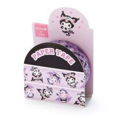 Japan Sanrio Washi Paper Masking Tape - Kuromi / Maid