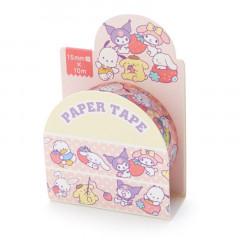 Japan Sanrio Washi Paper Masking Tape - Sanrio Characters / Strawberry