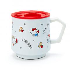 Japan Sanrio Stainless Mug with Lid - Hello Kitty