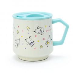 Japan Sanrio Stainless Mug with Lid - Pochacco