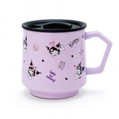 Japan Sanrio Stainless Mug with Lid - Kuromi