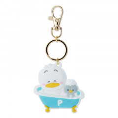 Japan Sanrio Rubber Keychain - Pekkle / Little Pekkle Bath