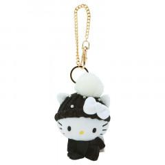Japan Sanrio Keychain Knit Hat Plush - Hello Kitty