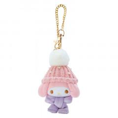 Japan Sanrio Keychain Knit Hat Plush - My Melody