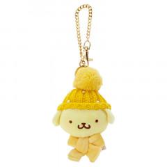 Japan Sanrio Keychain Knit Hat Plush - Pompompurin