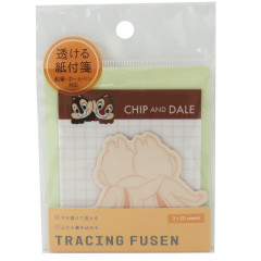 Japan Disney Tracing Fusen Sticky Notes - Chip & Dale