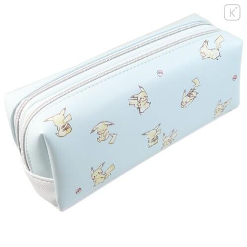 Japan Pokemon Pouch - Pikachu Pale Blue - 3
