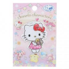 Japan Sanrio Iron-on Applique Patch - Hello Kitty / Flower