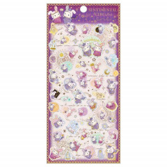 Japan San-X Sticker - Sentimental Circus / Spica & Black Cat Purple