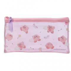 Japan Kirby Zipper Makeup Stationery Pencil Bag Pouch - Clear
