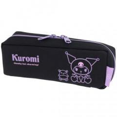 Japan Sanrio Tray Pen Pouch - Kuromi / Black