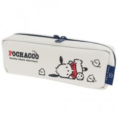 Japan Sanrio Tray Pen Pouch - Pochacco / White