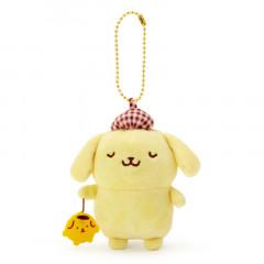 Japan Sanrio 2 Way Mascot Keychain Brooch - Pompompurin Omamori / My Treasure