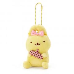 Japan Sanrio 2 Way Mascot Keychain Brooch - Pompompurin Ribon / My Treasure
