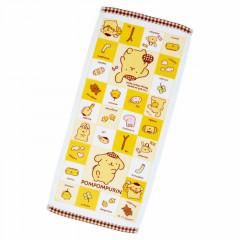 Japan Sanrio Face Towel - Pompompurin / My Treasure
