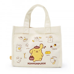 Japan Sanrio Canvas Handbag - Pompompurin / My Treasure