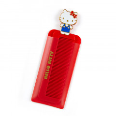 Japan Sanrio Compact Comb with Case - Hello Kitty