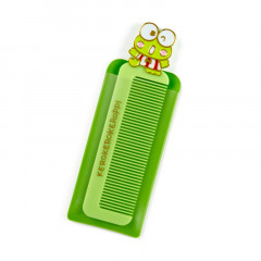 Japan Sanrio Compact Comb with Case - Keroppi