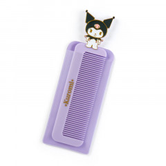 Japan Sanrio Compact Comb with Case - Kuromi